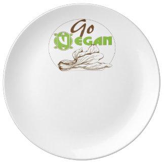 Go Vegan Plate Porcelain Plate