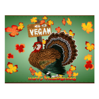 Go Vegan! Thanksgiving- Postcard