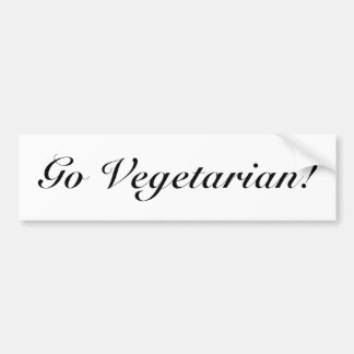 Go Vegetarian! Bumper Sticker