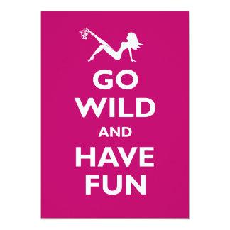 Go Wild Bachelorette Party Invitations