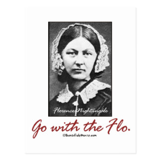 Go with Florence Nightingale Postcard