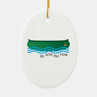 Go With Flow Ceramic Ornament