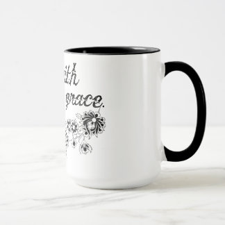 go with grace floral mug