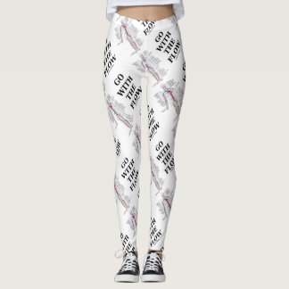 Go With The Flow Circulatory System Medical Humor Leggings