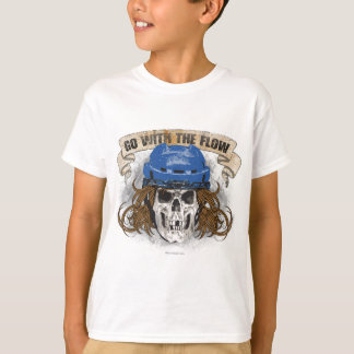 Go with the Flow (Hockey Hair) Blue T-Shirt