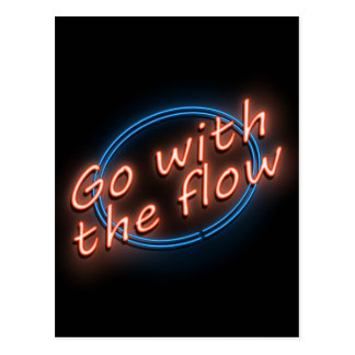 Go with the flow. postcard