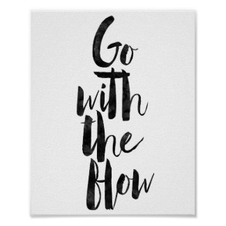 Go With The Flow Poster