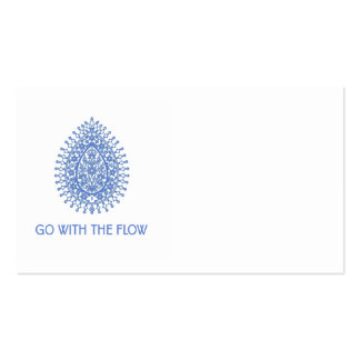 Go with The Flow Teardrop Business Card Template