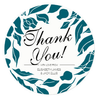 Go With The Flow Wedding 'Thank You' Card