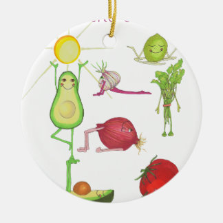 Go with the Guacamo Ceramic Ornament