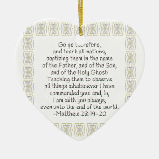Go Ye Therefore and Teach All Nations Ceramic Heart Decoration