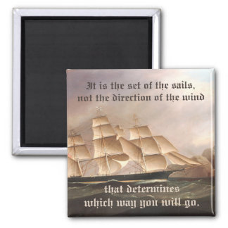 Go Your Own Direction Square Magnet