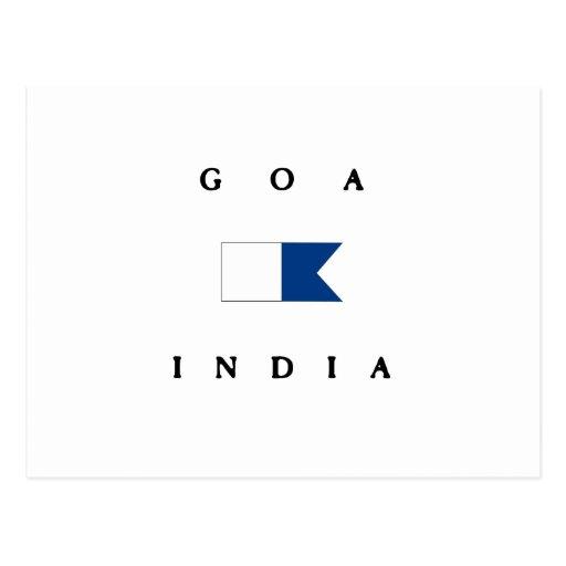 Goa India Alpha Dive Flag Postcards