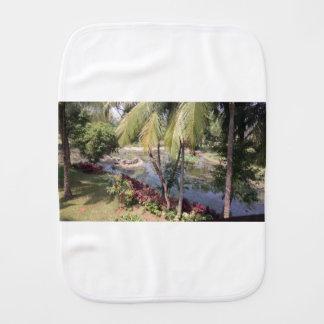 Goa India Garden Burp Cloth