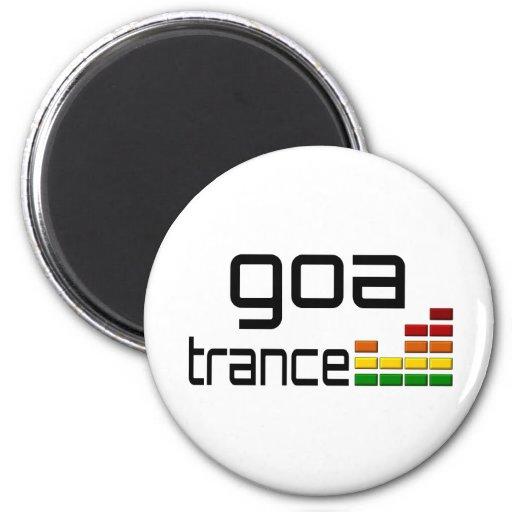 Goa Trance Music with Stereo Equalizer Fridge Magnet