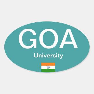 Goa University* (India) Euro-style Oval Sticker
