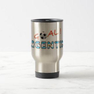 GOAL Argentina 15 Oz Stainless Steel Travel Mug