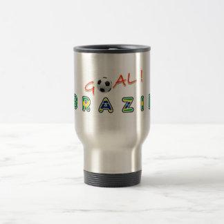 GOAL Brazil 15 Oz Stainless Steel Travel Mug