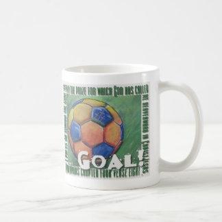 Goal! Christian soccer ball Basic White Mug