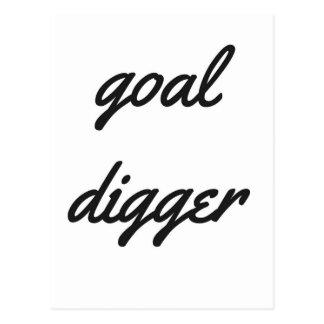 Goal Digger Humor Design Collection Illustration Postcard