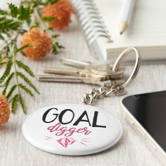 Goal Digger, Motivated Girl Key Ring