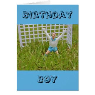 Goal Keeper Birthday Boy Card