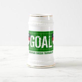 Goal Nederland Netherlands European Soccer Beer 18 Oz Beer Stein
