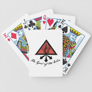 Goal Of Wise Bicycle Playing Cards