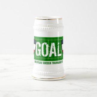 Goal Polska Poland European Soccer Tournament 18 Oz Beer Stein