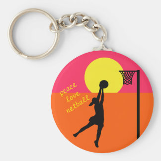 Goal Shooter Design Netball Quote Theme Key Ring
