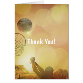 Goal Shooter Themed Netball Thank You Card