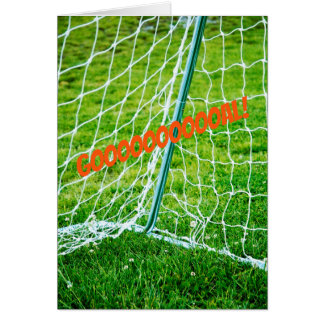 GOAL ! Soccer or achievement greeting card