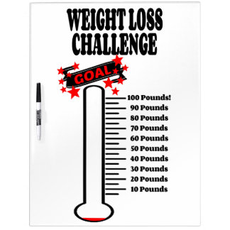 Goal Thermometer 100 Pound Weight Loss Goal Dry Erase Boards