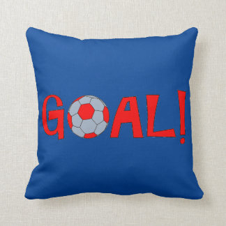 Goal - Throw Pillow for Soccer Fanatics