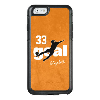 Goal women's soccer player name jersey number OtterBox iPhone 6/6s case