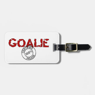 Goalie Luggage Tag