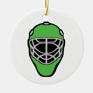 Goalie Mask Ceramic Ornament
