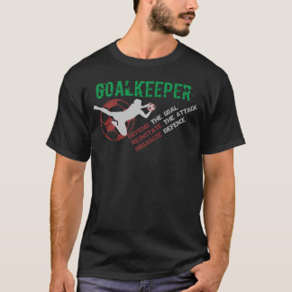Goalkeeper's Role (Black) T-Shirt