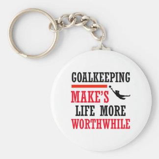 goalkeeping soccer design key chains