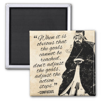 Goals and action - Confucius Quote Magnet