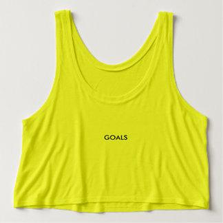 Goals Croptop Singlet
