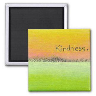 Goals love kindness fun colorful original word art fridge magnet