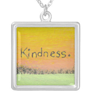 Goals love kindness fun colorful original word art personalized necklace