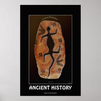 GOANNA Australian Aboriginal-style Art Poster