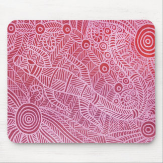 Goanna Dreaming Red Mouse Pad