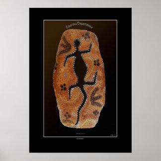 Goanna Dreamtime Aborigine-styled Art Print