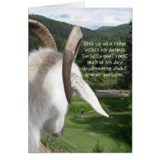 Goat and Greener Pastures Funny Retirement Card