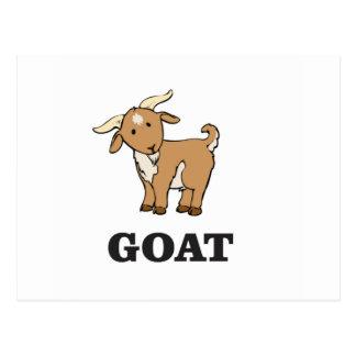 goat art cartoon postcard