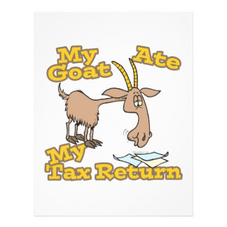 goat ate my tax return cartoon 21.5 cm x 28 cm flyer