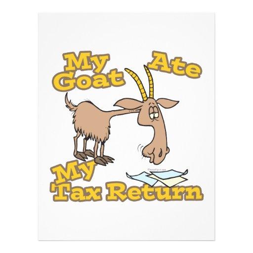 goat ate my tax return cartoon flyers